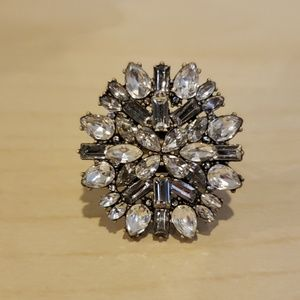 Baublebar crystal statement ring